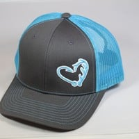 Grey Hunters/Fishing Hat in a Heart Limited Edition