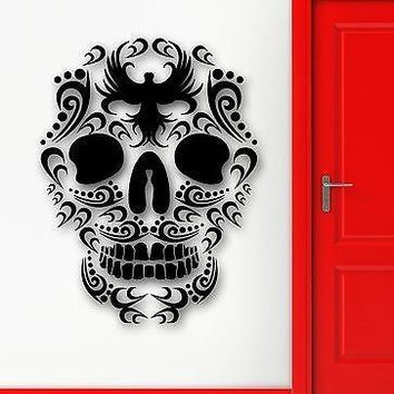 Wall Sticker Vinyl Decal Death Skull Tribal Tattoo Cool Decor Unique Gift (ig1978)