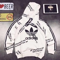 ADIDAS Woman Men Fashion Print Hoodie Top Sweater Pullover-2