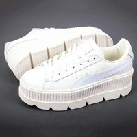 PUMA Fenty Creeper Women Casual Running Sport Shoes Sneakers Roses White G-A-YYMY-XY
