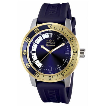 Invicta 7464 Mens Signature II Blue Dial Blue Rubber Strap Watch