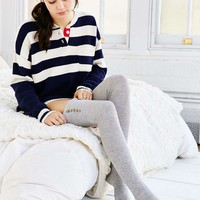 Lightweight Button Thigh-High Thermal Sock - Urban Outfitters
