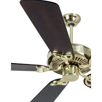 Craftmade K10977 CXL Polished Brass Ceiling Fan with 54-Inch Premier Distressed Walnut Blades