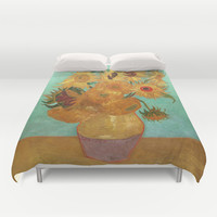 Vincent Van Gogh Twelve Sunflowers In A Vase Duvet Cover by Art Gallery