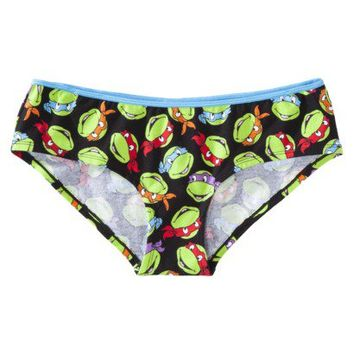 Women's Teenage Mutant Ninja Turtle Panty - Black