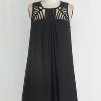 LBD Mid-length Sleeveless Shift Party Prep Dress