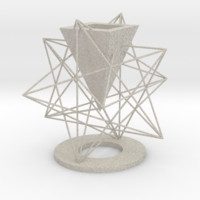 Small Stellated Dodecahedron Vase by cranberrysky on Shapeways