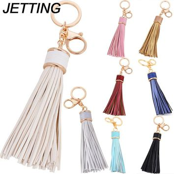 JETTING 1PCS Simple Luxury Tassel Fringe Pu Leather Purse Bag Buckle HandBag Pendant