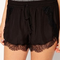 BCBGeneration Shorts with Lace Trim