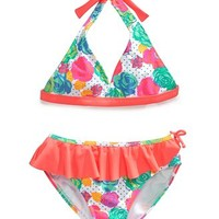Breaking Waves Girls' 2-Piece Bikini Swimsuit
