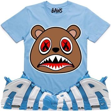 CINNAMON BAWS Sneaker Tees Shirt - Uptempo University Blue