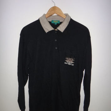 pony shoes 1980 plain black polo shirt mens