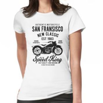 'SF MOTORCYCLE' T-Shirt by Super3
