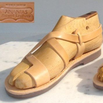 ANANIAS Greek Grecian Roman handmade leather by AnaniasSandals