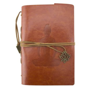 Buddha Brown Leather Journal Planner Organizer