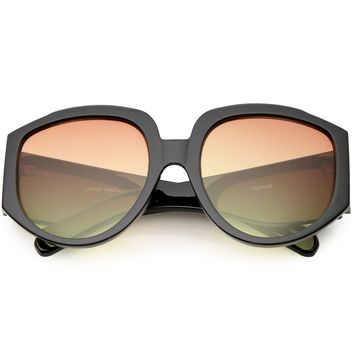 Women's Oversize Geometric Gradient Color Tone Sunglasses C620