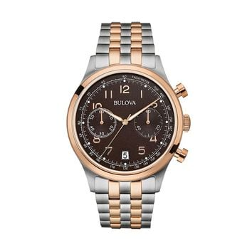 Bulova Men's Two Tone Stainless Steel Chronograph Watch - 98B248