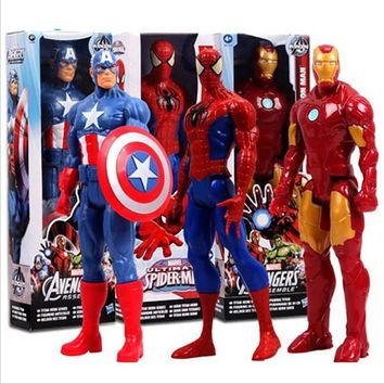 Marvel's Amazing Spiderman Captain America & Iron Man Action Figure Collectible