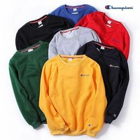 Champion Fashion Winter Embroidery Long Sleeve Top Sweater Pullover