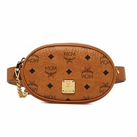 MCM ESSENTIAL VISETOS women's simple versatile purse shoulder bag brown