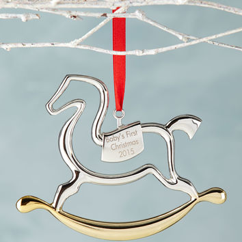 Baby's 1st Rocking Horse Christmas Ornament - Nambe