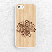 Aztec tree brown Wood print Phone Case for iPhone 6, iPhone 5 5s 5c, Sony z1 z3 compact, LG g3 g2 nexus 5, HTC One m7 m8 tribal style -G5