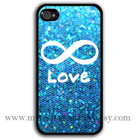 iphone 4 case, iPhone 4s Case, forever love and sparkle Painting black hard case for iphone 4, iphone case 4s,