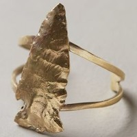 Swirled Arrowhead Cuff by Alkemie Gold One Size Jewelry