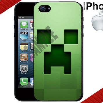 Minecraft Creeper iPhone Case  iPhone 5 Case or by CrazianDesigns