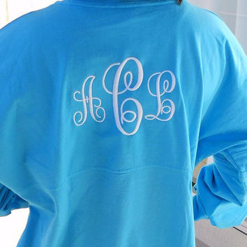 Spirit Shirt Monogram Personalized Font Shown ELEGANT