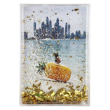 Rectangle Glitter Picture Frame - Pineapple