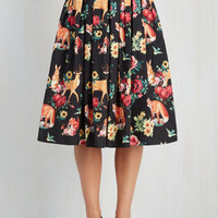 Woodland Creature Long Aura and Fauna Skirt Size 4X by ModCloth