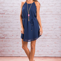 See You Stare Dress, Navy