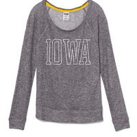 University of Iowa Slouchy Sweater - PINK - Victoria's Secret