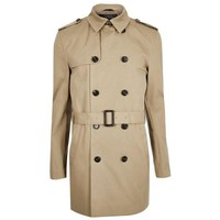 Double Breasted Khaki Trench Coat