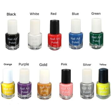 New Nail Polish Oil Stamping 5ml Polish Acrylic Gel Tip  Dedicated Authentic Sticker Nail Art Printing Best Gift For Women