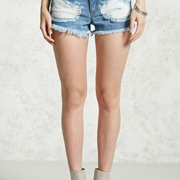 Super Distressed Denim Shorts
