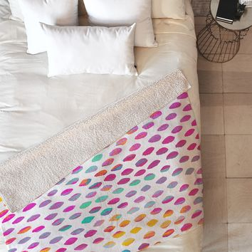 Elisabeth Fredriksson Paradise Dots Fleece Throw Blanket