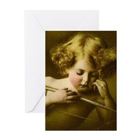 CUPID ASLEEP GREETING CARDS