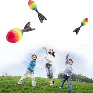 Outdoor Fun Toy Sports Foam Sport Flying Rocket Toy for Children Outdoor Group Toys Safe & No smell Fun outdoor games