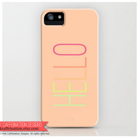 Hello iPhone Case / Cover / Soft Pink Yellow by PinkCaffeination