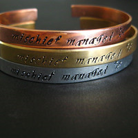Harry Potter Bracelet Mischief Managed Hand by SpiffingJewelry