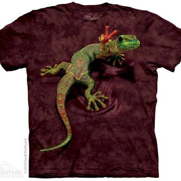 New PEACE OUT GECKO T SHIRT