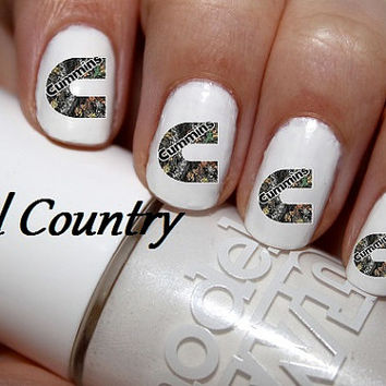 50pc Realtree Mossy Oak Camo  Cummins Logo Nail by NailCountry