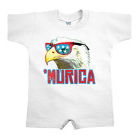 White Murica Romper - Infant | zulily