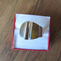 Taxco Mexico sterling tiger eye men's ring vintage