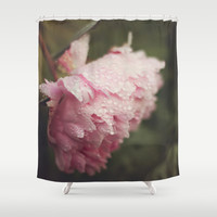 Pink Peony Shower Curtain by Dena Brender Photography