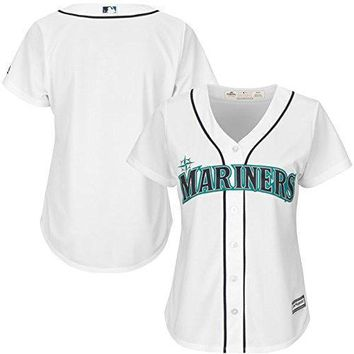 Seattle Mariners Mlb Womens Cool Base Home White Jersey Plus Sizes