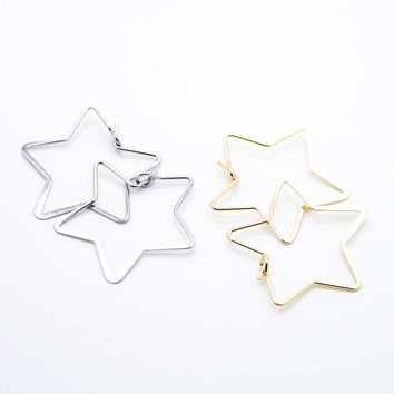Star hoop ring (2 colors)