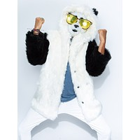 Panda Faux Fur Coat